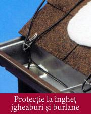 Protectie la inghet jgheaburi si burlane